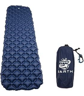 Wild Earth Ultra Ligero hinchable colchoneta con almohada, saco de dormir Partner, Sleeping Pad