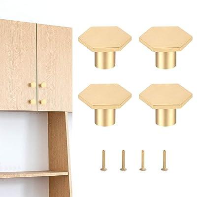Unique Glass White Door Handle w Brass Puller Cabinet Cupboard 4 PcS Home Decor