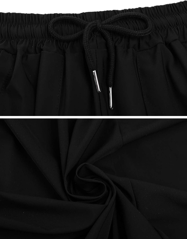 Sykooria Pantalones Deportivos para Mujer Quick Dry Pantalones de Ch/ándal con Cord/ón a Rayas Fitness Yoga Jogging
