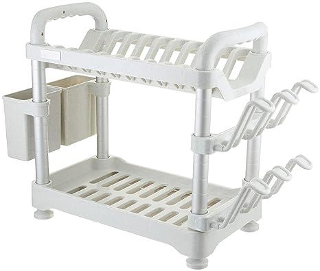 aluminum kitchen utensils. Exellent Aluminum Uniware 2 Tier Aluminum Kitchen Utensils Rack U0026 Shelf Holder Organizer 16  Inch Off On
