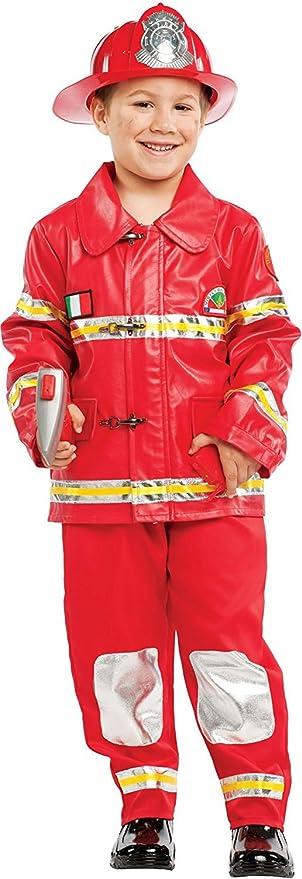 chiber Disfraces Disfraz de Bombero Infantil + Kit (Talla 9 ...