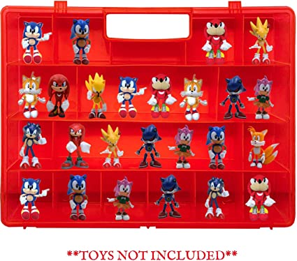 Amazon Com Life Made Better Red Toy Mini Figure Holder Case Compatible With Sonic The Hedgehog Stores Protects Action Figures Toy Accessories Made By Lmb Toys Games
