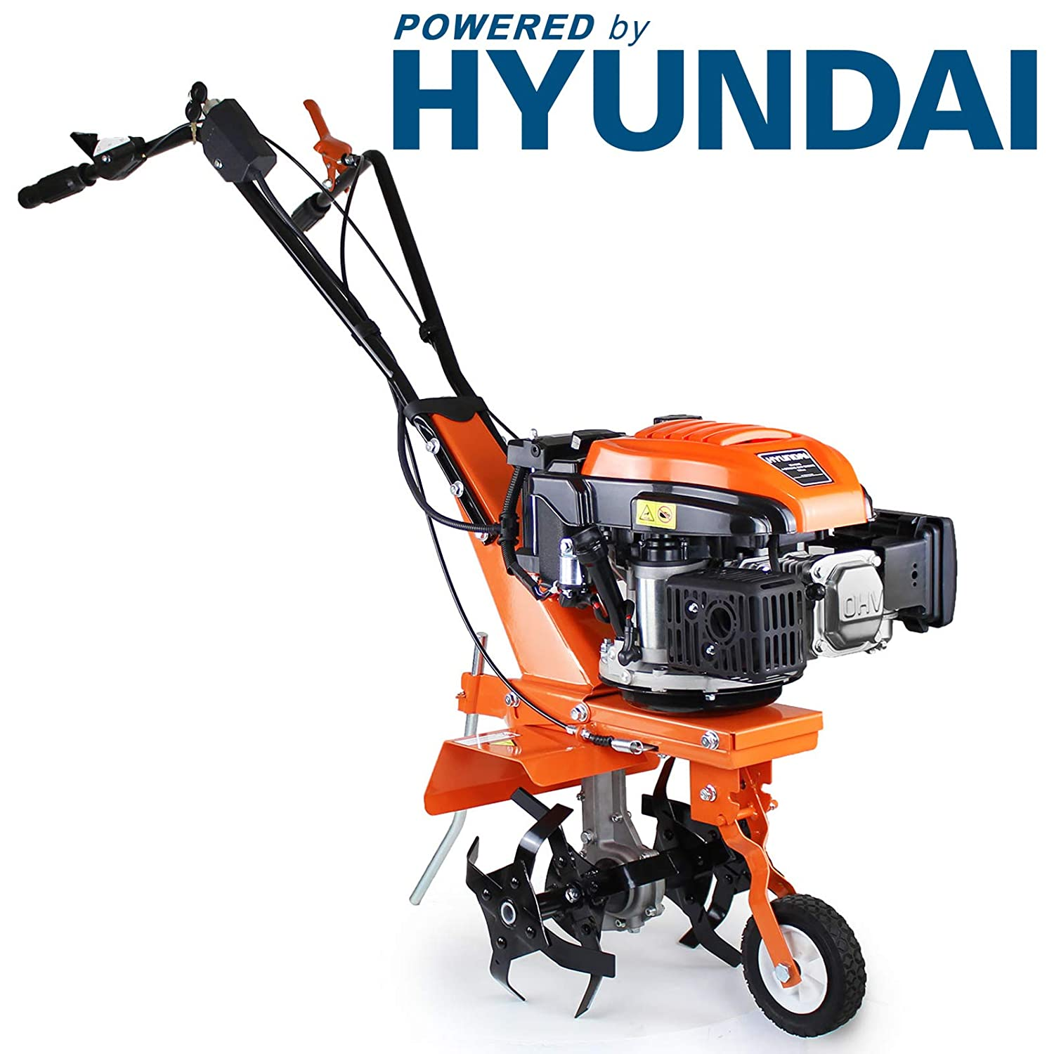 P1PE P140TE 139 cc 4 Stroke Electric Start Hyundai Powered Petrol Tiller/Rotovator, Naranja: Amazon.es: Bricolaje y herramientas