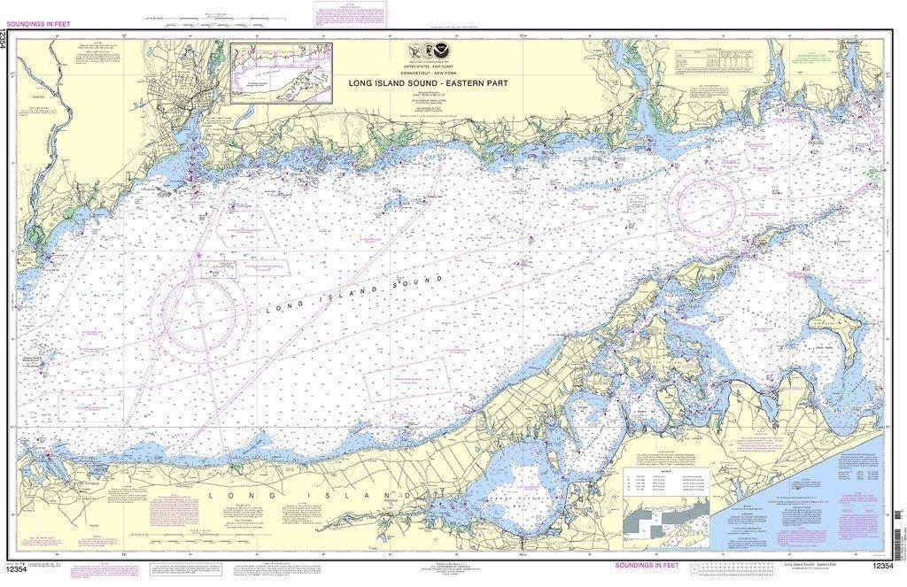 Amazon com noaa chart 12354 long island sound eastern part