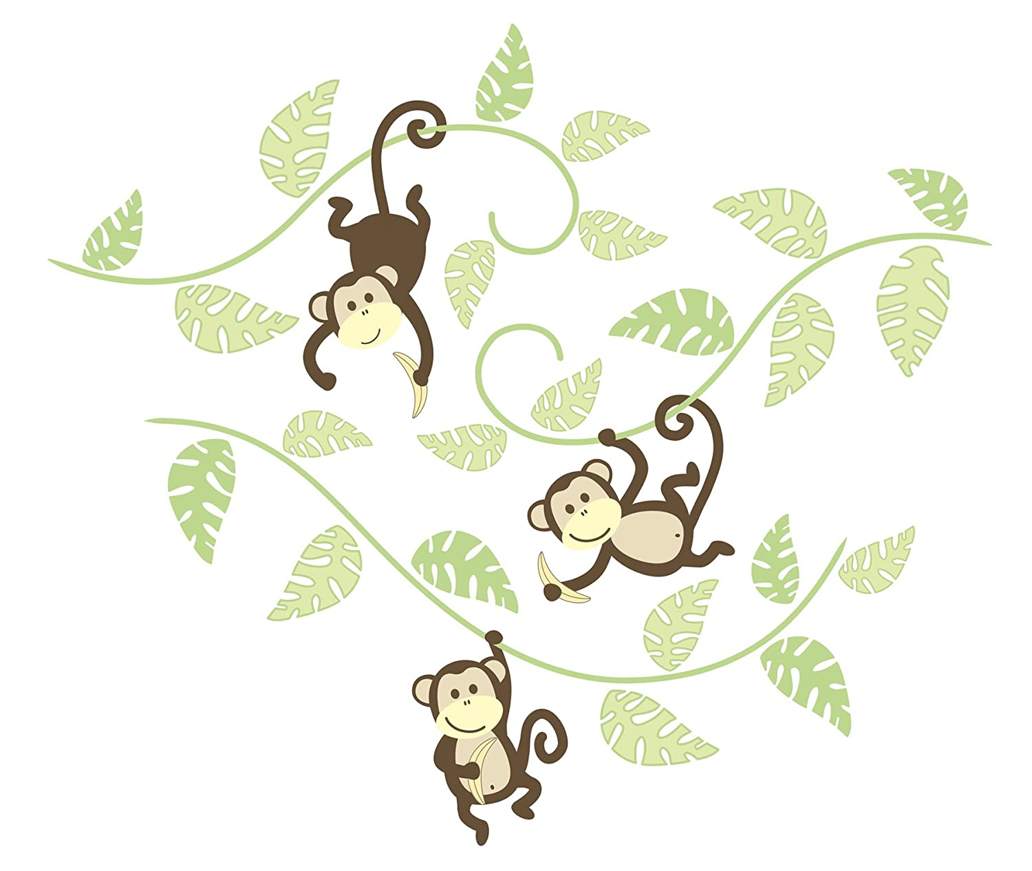 WallPops WPK0019 Monkeying Around Wall Art Kit