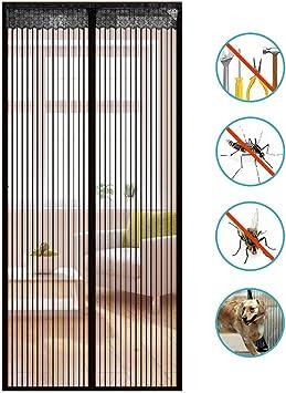 70x190cm GUOGAI Fliegengitter Magnet T/ür Insektenschutz Magnetischer Fliegenvorhang Magnetische Adsorption f/ür Die Balkont/ür 28x75inch Brown