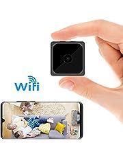 ODLICNO Mini cámara espía WiFi Inalámbrica Cámara Oculta HD 1080P Mini Cámara Secreta Cámara de niñera Grabadora de Video en Interiores Activada por Movimiento/Visión Nocturna