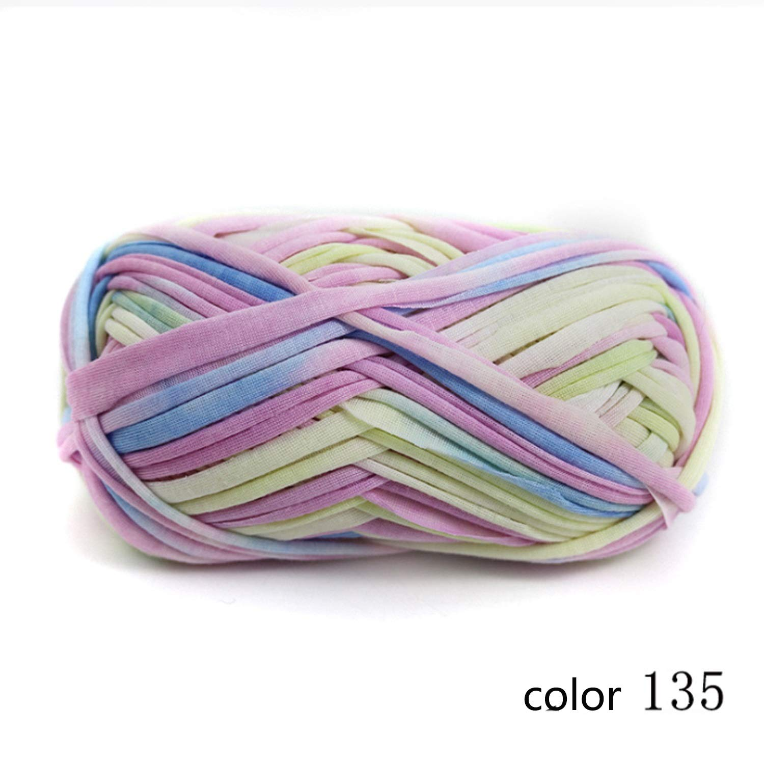Col 135 20 balls Yarn knitting yarn Flower print cloth flower cloth hand crochet line bag carpet line 1   0.3 NM 1 ball about 100 g 10 multicolor selection possible ( color   Col 135 , UnitCount   20 balls )