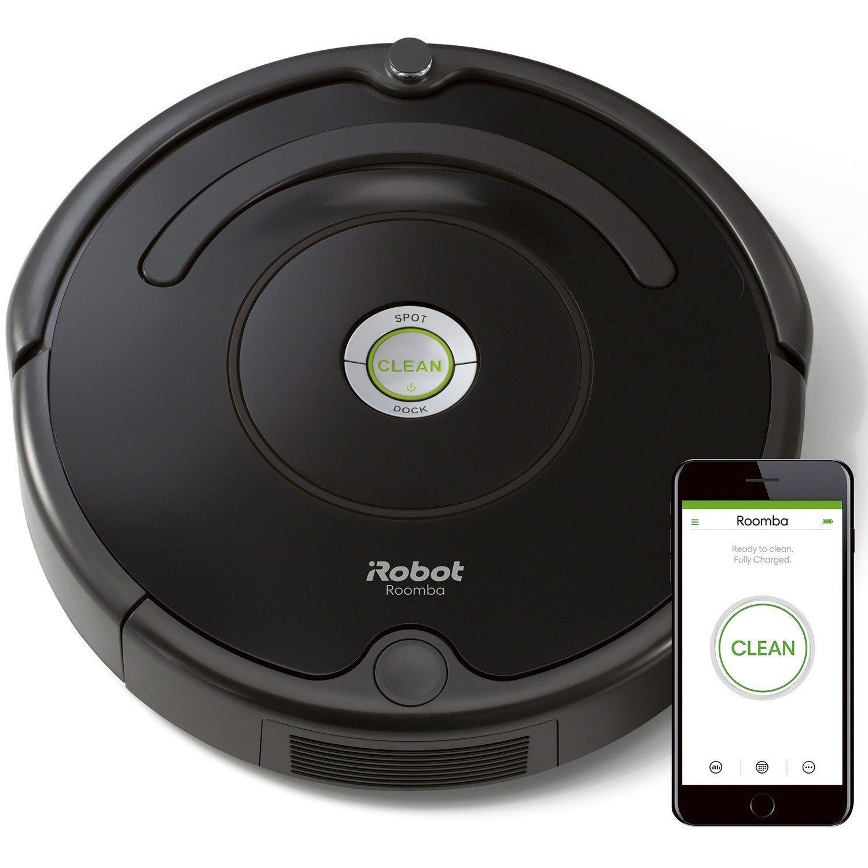 iRobot Roomba 671 Robot Aspirapolvere, Sistema di Pulizia ad Alte Prestazioni con Dirt Detect, Adatto a Pavimenti e Tappeti, Ottimo per i Peli degli Animali Domestici, con Connessione Wi-Fi, Nero product image