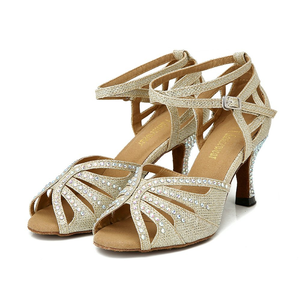 ... TTdancewear Shoes Women Rhinestone Ballroom Dance Shoes TTdancewear  Latin Salsa Performance Dance Shoes B075HX9KWQ 6 B ... 0a6b5d41cc19