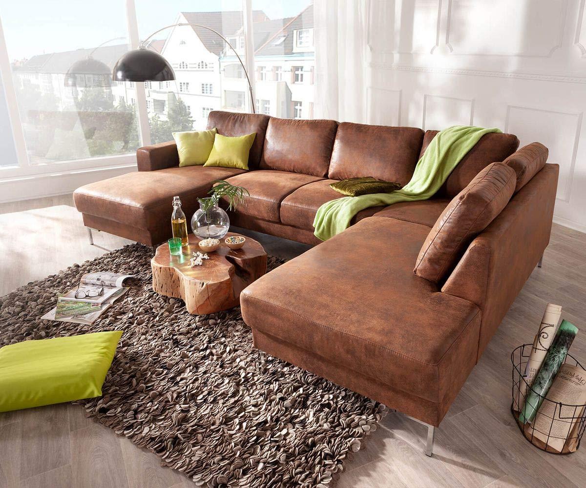 DELIFE Couch Silas Braun Antik Optik 300x200 cm OttoMaße Rechts Designer Wohnlandschaft