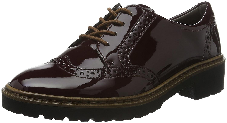 Jenny Portland - Zapatos de Cordones Derby Mujer 39 EU|Rojo - Rot (Amarone 05)