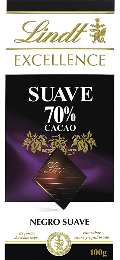 Lindt Excellence Tableta de Chocolate Suave 70% - 100 g