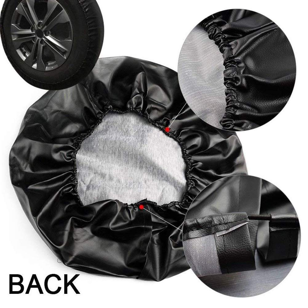 27-29,15in EIGIIS Universal Soft Spare Tire Cover Leather Waterproof Dust-Proof Thicken Wheel Protectors Covers for Jeep Wrangler Liberty Sahara Hummer Toyota FJ SUV Shantou,