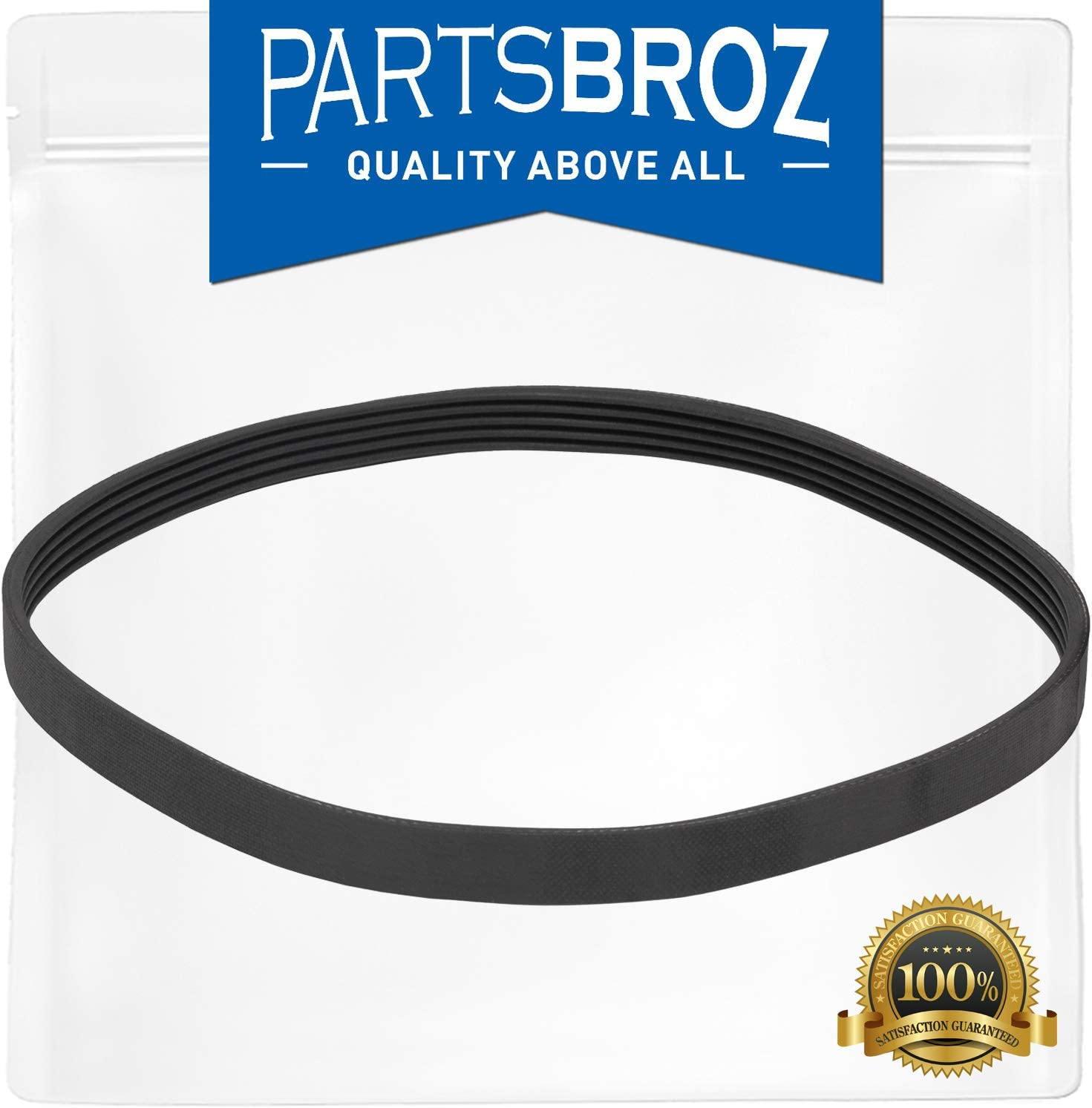 W10006384 Drive Belt by PartsBroz - Compatible with Whirlpool Washing Machines - Replaces WPW10006384, AP6014712, PS11747978 & WPW10006384VP