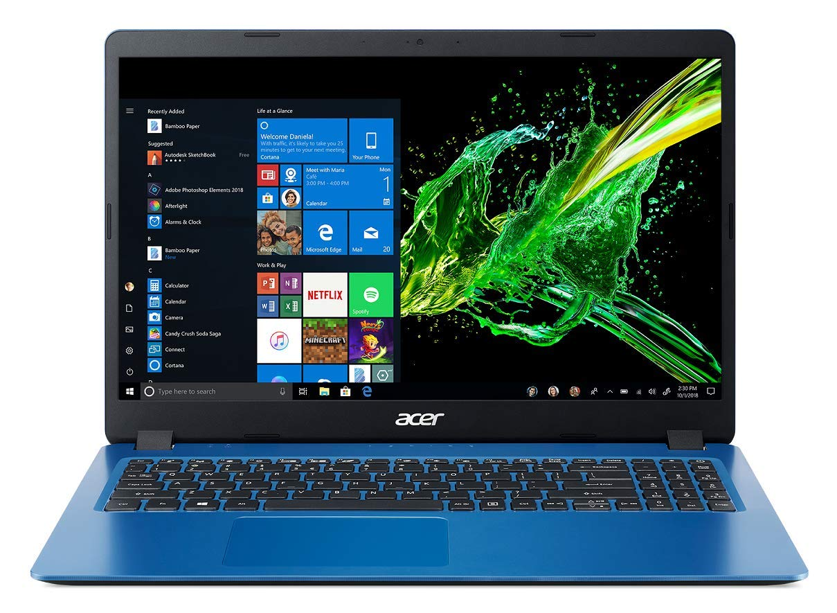 Acer Aspire 3 Thin A315-54K 15.6-inch Notebook (7th Gen Core i3-7020U/4GB/1TB HDD/Windows 10 Home (64 Bit)/Intel HD Graphics 620 Graphics), Indigo Blue
