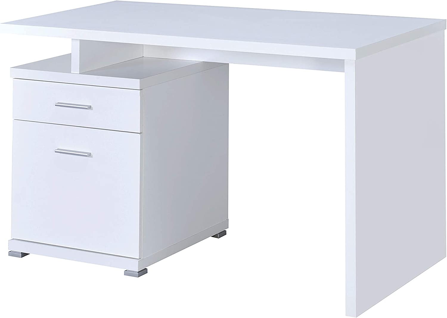 Coaster Home Furnishings Office Desk with Cabinet White