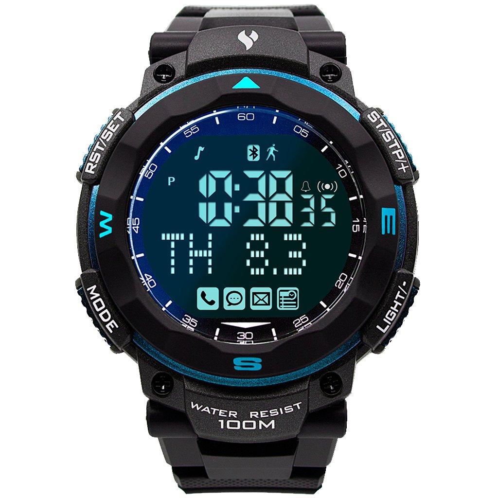 ventas en linea Homyl Reloj Digital Rastreador de de de Fitness Compatible con Sistema Android iOS Bluetooth - Azul negro  contador genuino