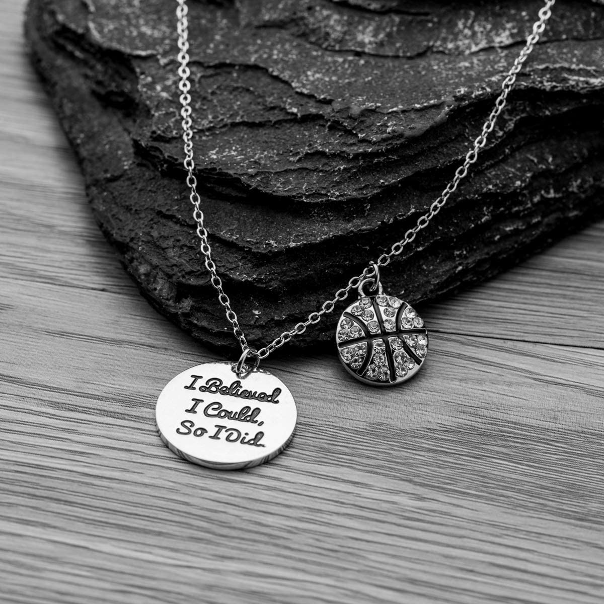 Basketball Gifts Sportybella Basketball Necklace Basketball Charm Necklace for Female Basketball Players Basketball I Believed I Could So I Did Jewelry