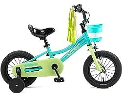 "Retrospec Childrens-Bicycles Retrospec Koda 12"" 16"" & 20"" Kids Bike Boys and Girls Bicycle with Training Wheels, Bell & Baske"