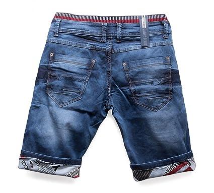 8d23d681ce7613 Herren Jeans Shorts Bermuda Hose Walkshort Waschung, Farben:Blau, Größe  Shorts:W29
