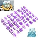 OUNONA 40 Pezzo Stampini Lettere Per Le Decorazioni In Pasta Di Zucchero E Biscotti E Torta