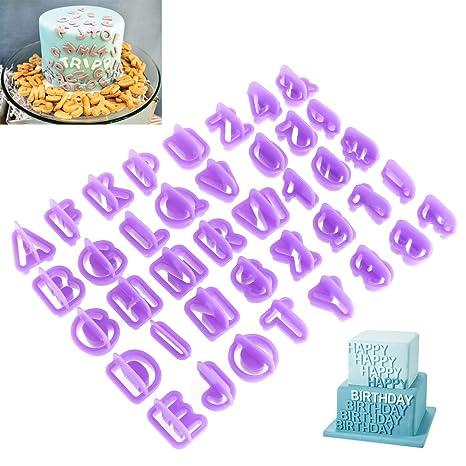 OUNONA 40Pcs Moldes Para Galletas Alfabeto De Cortadores ABC para repostería, diseño de plástico Cool