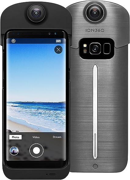 ION360 U - Funda para Samsung Galaxy S8 Plus con batería de Carga para cámara y Smartphone 4K Ultra HD de 360 Grados: Amazon.es: Electrónica