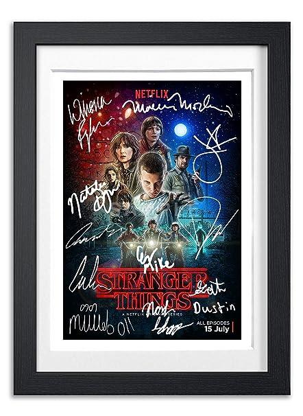 Stranger Things Cast Signed Autograph Signature Autographed A4