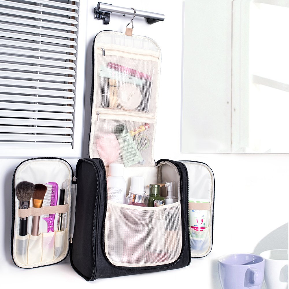 Large Hanging Travel Toiletry Bag - MelodySusie Heavy Duty Waterproof Makeup Organizer Bag Shaving Kit Toiletry Bag for Travel Accessories, Shampoo, Cosmetic, Personal Items by MelodySusie (Image #7)