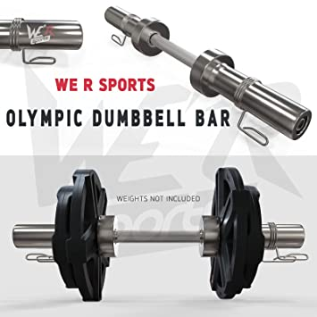 """We R Sports 2 """"Barra para mancuernas de tipo olímpico (conjunto con primavera"""