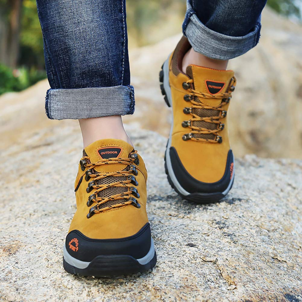 Herren Wanderschuhe Anti Slip Trainer Trekkingschuhe wasserdicht Low Cut Wildleder wasserdicht Trekkingschuhe atmungsaktiv leichte Schuhe zum Wandern c01c00