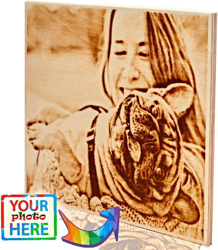 Amazon Com Personalized Wood Burned Photo Dog Memorial Gifts On Wood Bedroom Decor For Couples Wood Burning Customized Wood Print 11 X 16 6 Inch Posters Prints