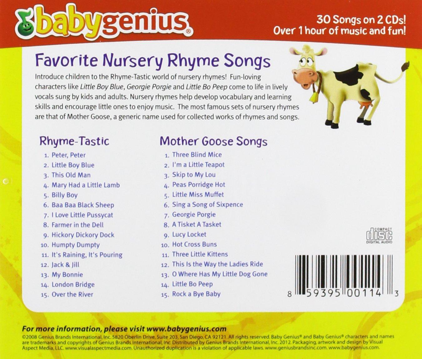 Baby Genius Favorite Nursery Rhyme Songs Amazoncom Music - 30 genius packaging designs