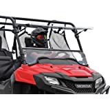 SuperATV Scratch Resistant Flip Windshield for 2014+ Honda Pioneer 700/700-4 | Made in USA | 250 Times Stronger than Glass |