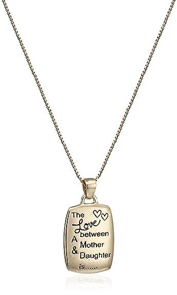 Amazon motherdaughter engraved rectangular pendant necklace motherdaughter engraved rectangular pendant necklace 18quot aloadofball Images