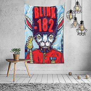 Dxddsdks Blink-182 Poster Tapestry Wall Hanging Dorm Art Decor for Bedroom Living Room 60x40inch