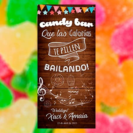 Decoración Boda | Cartel Boda Candy Bar (Cartón) | 70cm x ...