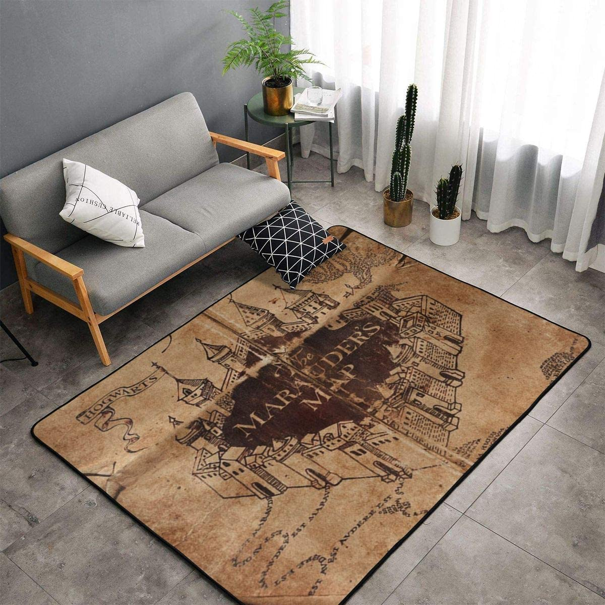 I Like Exercise Marauders Map Kitchen Rug, Bedroom Living Room Kitchen Rug, Doormat Floor Mat Nursery Rugs, Kids Children Play Mat Bath Mat, Throw Rugs Runner Exercise Mat