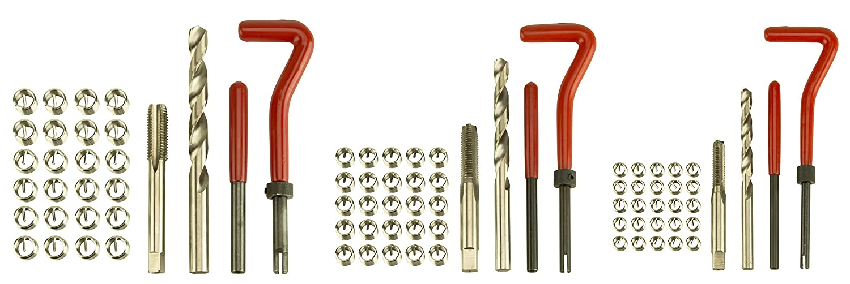 Dragway Tools Thread Repair Kit for Metric Size M6 x 1.0, M8 x 1.25, M10 x 1.25