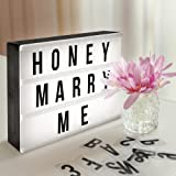 Amazon Price History for:Cinema Light Box Super Perfect DIY LED Cinematic Light Up Box with Decorative 90 Letters Numbers Symbols for Festival/Birthday/Anniversary/Wedding/Mottoes [A4 Size, White]