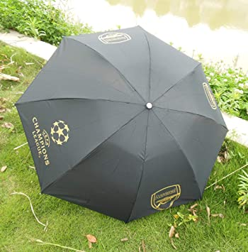 wei Umbrella Football Club Gift Umbrella Fan Souvenir Umbrella Plegable Lluvia o Brillo Dual-Use