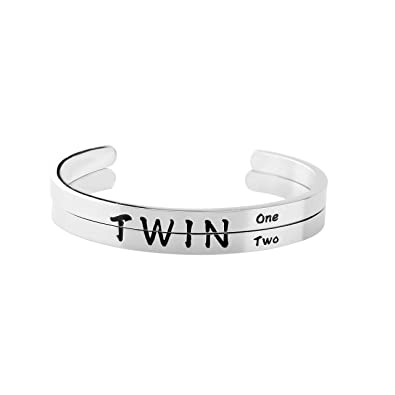Amazon.com: ENSIANTH Twins - Pulsera doble de dos gemelos ...