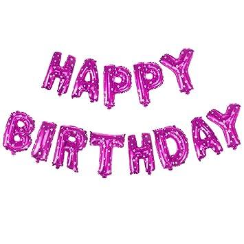 Amazon.com: Letras del alfabeto globos feliz cumpleaños ...