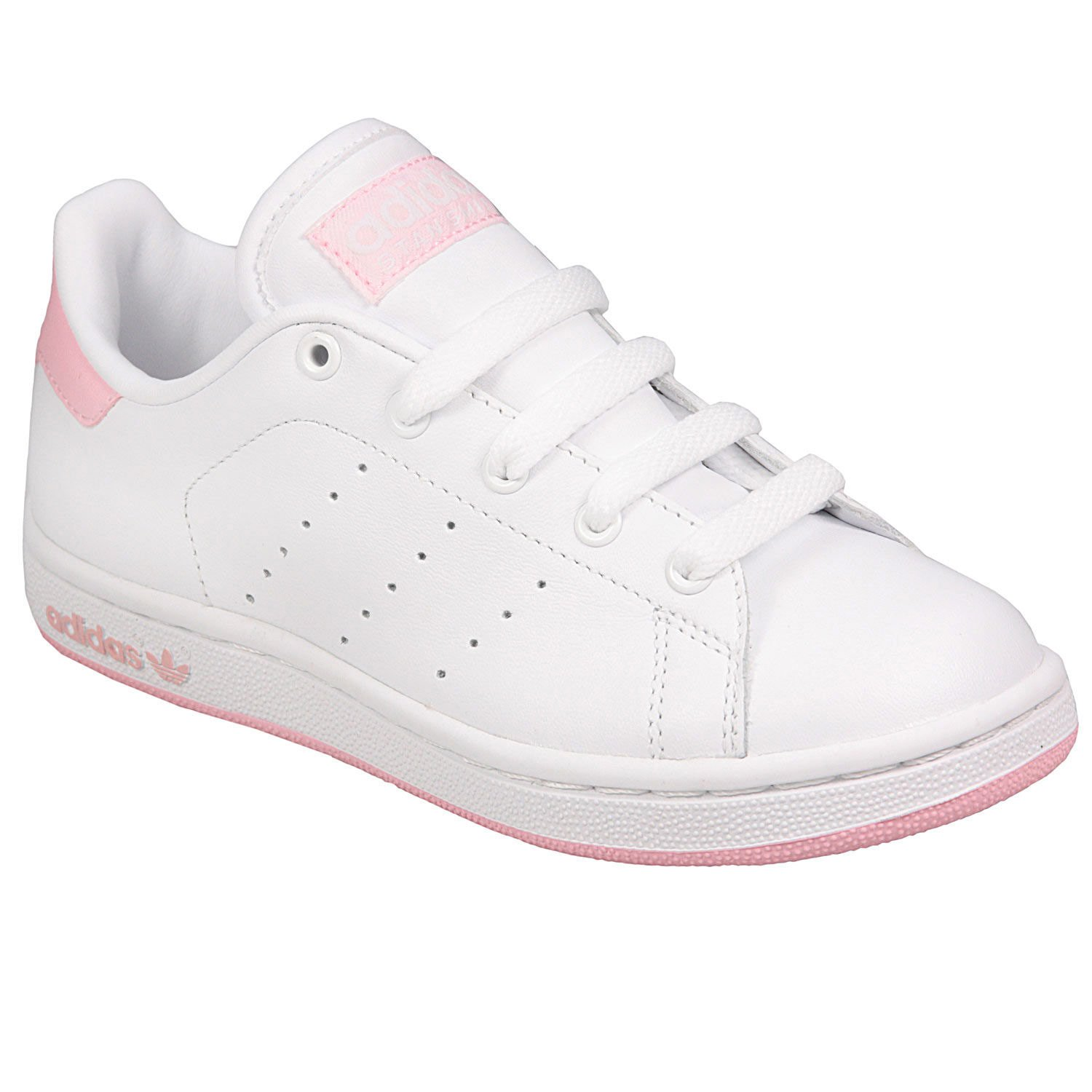 adidas Girls Originals Stan Smith Junior Trainer in White - UK 5.5   Amazon.co.uk  Shoes   Bags 87ec22a6f