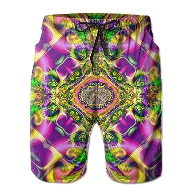 5b5308ceda SARA NELL Men's Swim Trunks Colorful Tie Dye Colorful Surfing Beach Board  Shorts Swimwear | Amazon.com
