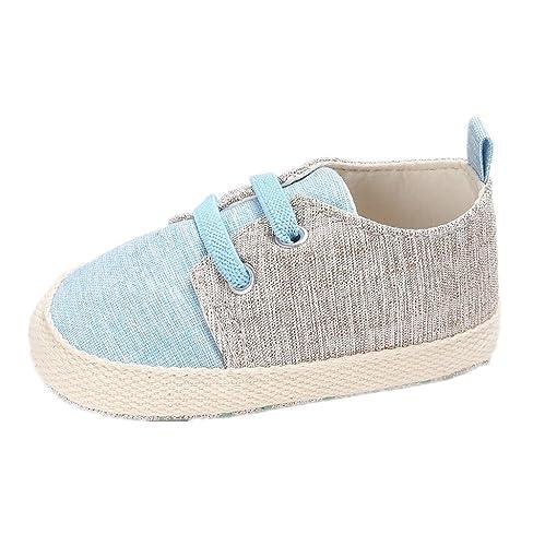 Zapatos para bebé Auxma Zapatillas de lona para niños pequeños Zapatos de Prewalker para bebés Niños