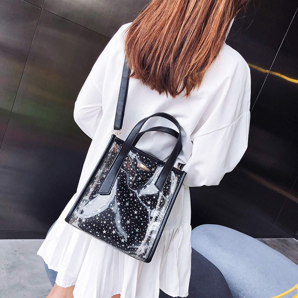 Fashion Girl Wild Star Jelly Transparent Hand Bag Shoulder Messenger Bag+Wallet