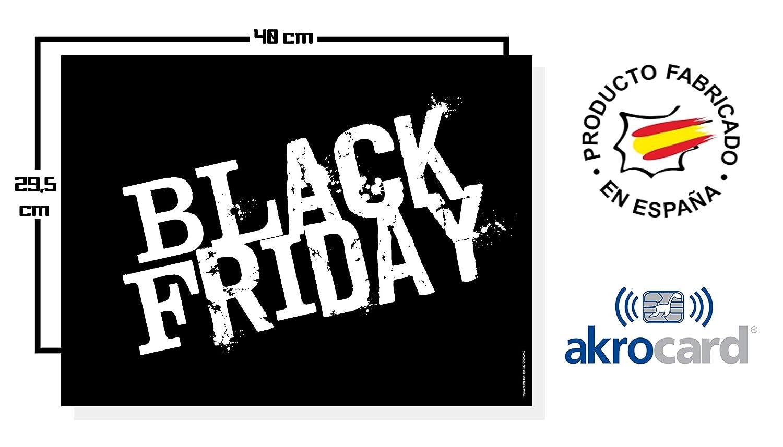 akrocard Cartel Resistente PVC - Black Friday: Amazon.es ...