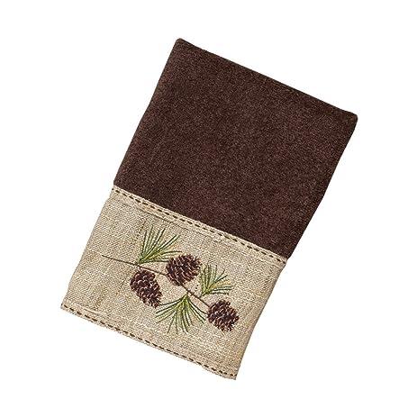 avanti linens 038102moc pine branch hand towel medium mocha